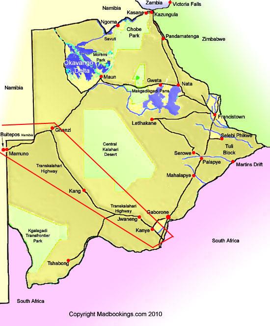 Guide to the Trans Kalahari Highway Botswana. on caprivi strip map, urals map, ubangi map, africa map, atlas mountains map, arabian map, nile map, iberian peninsula map, strait of gibraltar map, himalayas map, atacama map, thar map, namib map, red sea map, serengeti map, gobi map, zanzibar map, pyrenees map, sahara map,