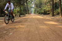 Relax and cycle to temples