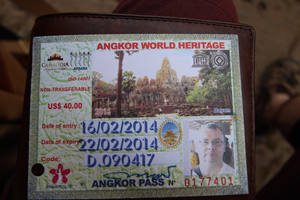 3 day Angkor temple pass