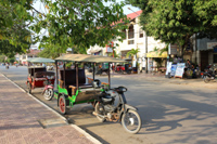 Sit back and view the temples from a Tuk Tuk