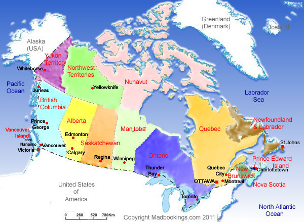 Map Of Canada Cities My Blog - Canada map major cities