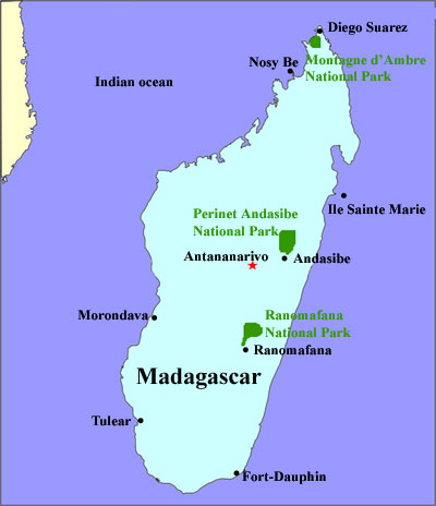Madagascar travel service map of madagascar publicscrutiny Image collections