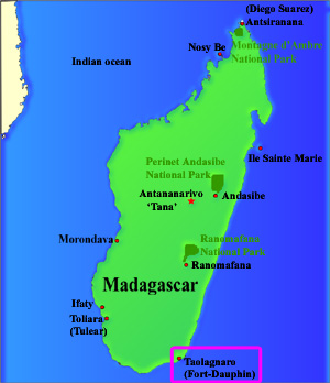 Image result for map of Fort dauphin madagascar