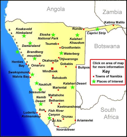 Namibia Travel Guide information on Namibia
