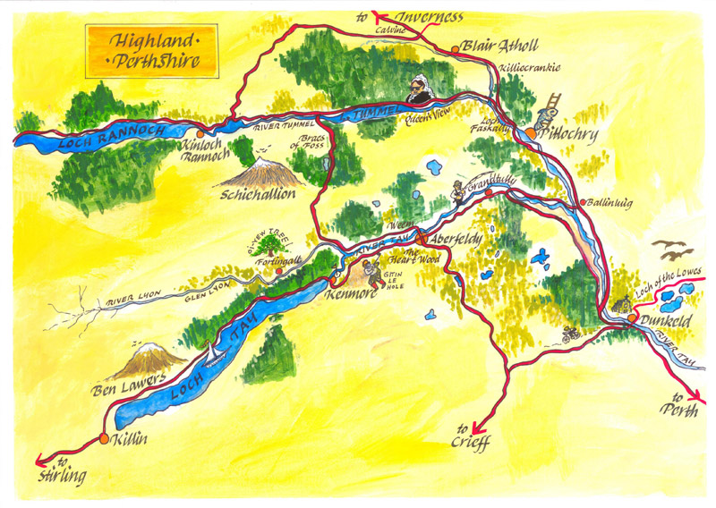 Pitlochry Scotland Map.Welcome To Laurel Cottage Aberfeldy Scotland By Madbookings