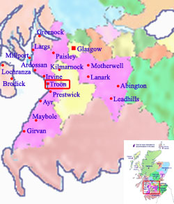 Troon Scotland Map.Welcome To Troon Scotland Hotels Holidays And Accommodation By