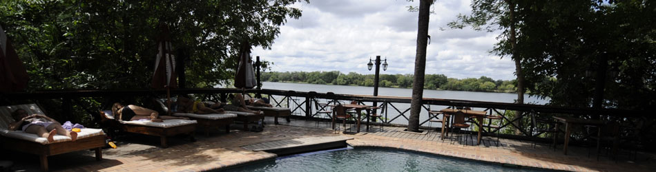 the zambezi waterfront complex and permanent tents livingstone