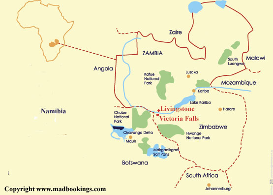 Images And Places Pictures And Info Victoria Falls Africa Location