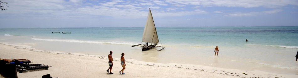 Azure ocean  white beaches are all part of Zanzibars attraction as a relaxing holiday destination